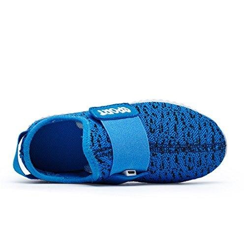 Brilhante Sapato Azul Sapatos Escuro Das Para Cobrando E Meninos Sneakers Respirável Brilhantes Meninas Estilo Dorkasde Confortável Usb Tênis Levou wBtqA