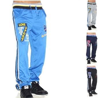 Herren Sporthose Jogginghose Trainingshose Traningsanzug Sportanzug (M, Blau)