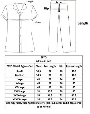 ZEYO Women's Night Suit & Night Shirt   Navy Blue Front Open Night Dress with Heart & Dot Print   Pure Cotton Night wear   Top and Pyjama Set with Half Sleeve