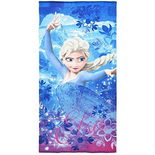 Telo mare frozen elsa disney asciugamano in microcotone cm. 140x70 - er4351/1