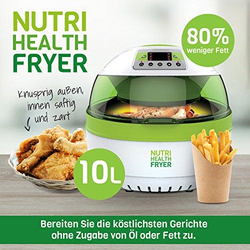 Nutrition Healthy Fryer Heißluftfritteuse, 10 Liters