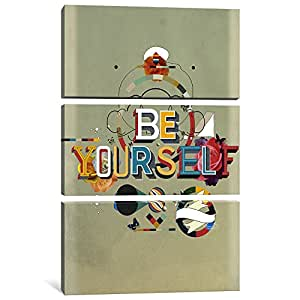 """iCanvasART 3 Piece Be Yourself Canvas Print by Kavan & Company, 60"""" x 40""""/0.75"""" Deep"""