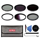 Beschoi 67MM Filtro Kit (UV+CPL+ Filtro Grigio Graduale, ND2+ND4+ND8 Filtri a Densità Neutra)11Pcs Obiettivi Accessori per DSLR Camera