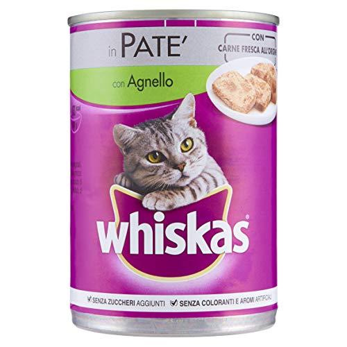 Whiskas in Patè con Agnello 400 g - Cibo per Gatto - 24 Lattine