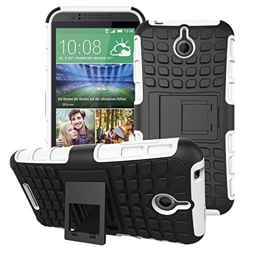 HTC Desire 510 Hülle, SsHhUu Premium Rugged Stoßdämpfung & Staubabweisend Kompletter Schutz Hybrid-Koffer mit Ständer Telefon Kasten für HTC Desire 510 4.7 Zoll (Weiß) 510 Htc Telefon-kästen