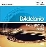 D'Addario EZ910 Bronze Light  (.011-.052) Acoustic Guitar Strings
