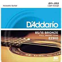 D'Addario EZ910 - Juego de cuerdas para guitarra acústica de bronce, 011' - 052'