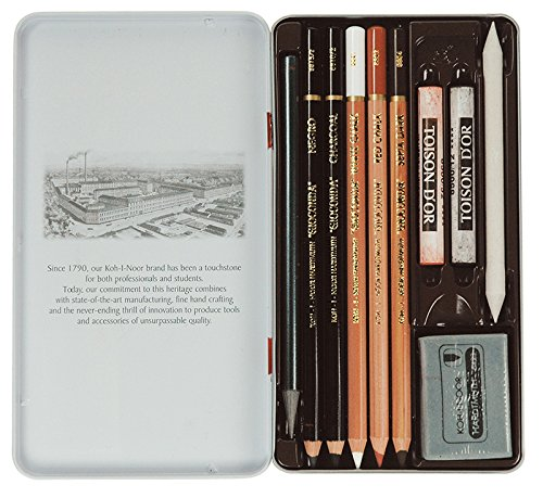 Koh-I-Noor Gioconda Zeichenset Art Set 10-teiliges Set in Metallbox Geschenkset 8890