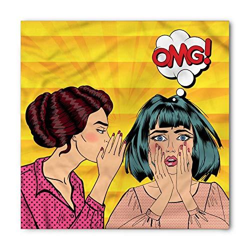 a, Girls on Starburst Lines, Unisex Head and Neck Tie M100*100CM ()