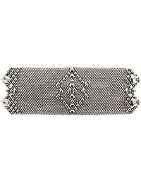 B50-Bracciale in argento, stile antico, quali SG Liquid Metal da Sergio Gutierrez & SG-Custodia e panno per la pulizia incluso