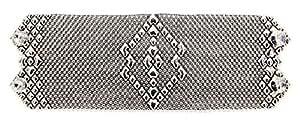 B50-Bracciale in argento, stile antico, quali SG Liquid Metal da Sergio Gutierrez & SG-Custodia e panno per la pulizia incluso, argento-placcato-base, colore: argento, cod. B50-AS