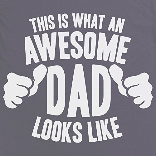Awesome Dad T-Shirt, Herren Anthrazit