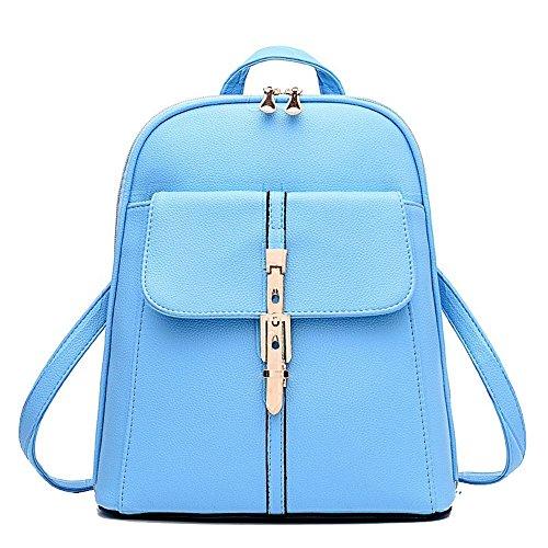 Anne , Damen Rucksackhandtasche Schwarz weiß Himmelblau