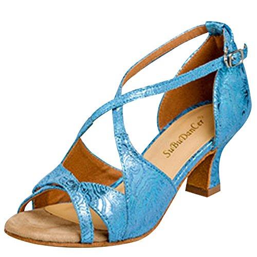 Oasap Damen Stilvolle Latin Tanz Hohe Absätzen Sandaletten Blue