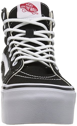Vans Sk8-Hi Platform Canvas Black White Noir