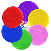 Silicone Sponge,BESTZY 6 Pcs Silicone Scrubber Kitchen Anti-Bacterial Sponge Multicolor for Cleaning Vegetable Kitchen Utensils (Round)