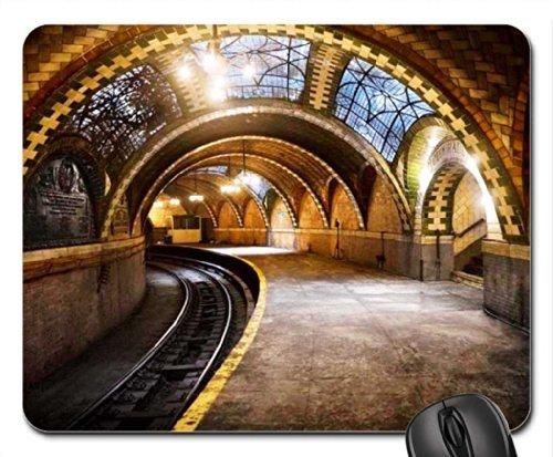 ny-subway-at-city-hall-mouse-pad-mousepad