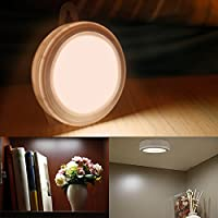 Liqoo Lampada da Parete Luce per Armadio Notturna a LED con PIR Sensore di Movimento Bianco Caldo Lampade per Scale Corridoio Guardaroba 3 x AAA Pile
