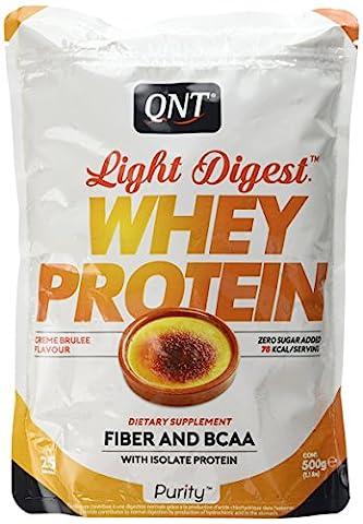 QNT Light Digest Whey Protein Supplement, 500 g, Creme Brulee
