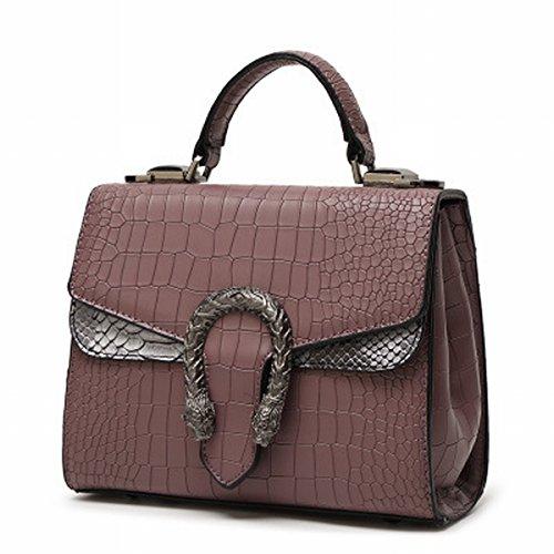 Weibliche mode fließen Große tasche Schulter Schräge Kreuz Krokodil Muster platin paket Braun
