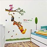Xqi wangpu Animal Cartoon Winnie l'ourson Arbre Stickers Muraux pour Enfants Chambres de Bébé Garçons Fille Home Decor Stickers Muraux Décoration de La Maison Papier Peint 102x160cm