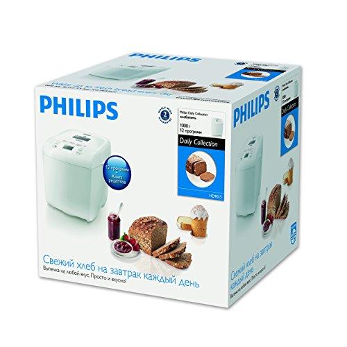 Philips Daily Collection HD9015/30 Macchina del Pane, 550 W, 1 kg, Timer Integrato, Bianco - 4