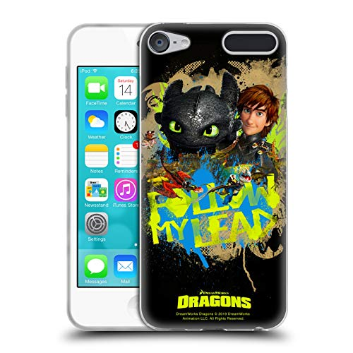 Head Case Designs Offizielle How to Train Your Dragon 2 Hiccup Follow My Lead II Toothless Soft Gel Huelle kompatibel mit Apple iPod Touch 6G 6th Gen Gen Apple Ipod Touch