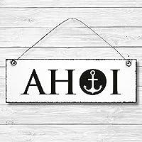 Ahoi - Anker maritim Dekoschild