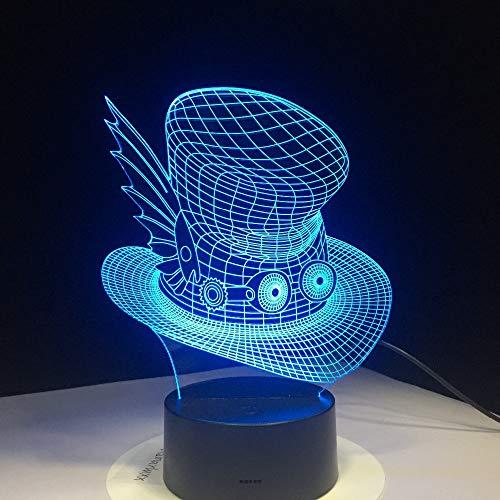 KangYD® Lámpara mágica creativa del sombrero 3D