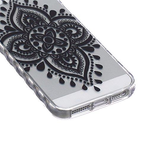 ZeWoo TPU Schutzhülle - BF033 / Don't touch my phone(Bär) - für Apple iPhone 5 5G 5S Silikon Hülle Case Cover BF044 / Geheimnis Oriental