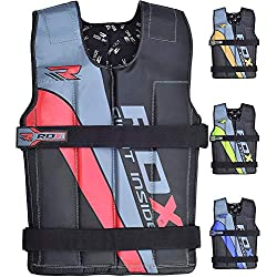 RDX Adjustable Weighted Vest Fitness Weight Jacket Training Workout Excercise