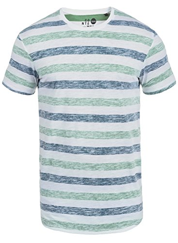 !Solid Tet Herren T-Shirt Rundhals Kurzarmshirt Aus Hochwertiger Baumwollmischung Creme de Menthe (3017)