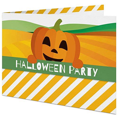 5 Einladungskarten für Halloween mit passenden Umschlägen, Einladungskarten für Veranstaltungen, Partys und Festivals im Set zu 5 Stk.