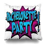 Ensemble de 4 Throw Pillow Cover Idea Bachelor Bachelorette Tatouage Avertissement Comic Sex Alert Mariage Zippered Taie D'oreiller Taille Carrée 20 x 20 Pouces Décor À La Maison Taie D'oreiller