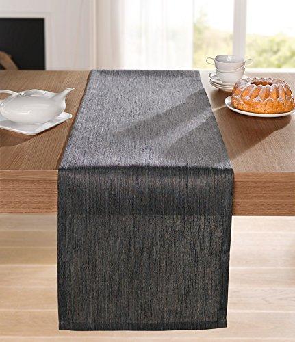 Runner da tavolo elegante, colore marrone/grigio 40x140cm