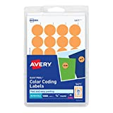Best Avery Color Laser Printers - Avery Self-Adhesive Removable Labels, 0.75 Inch Diameter, Orange Review