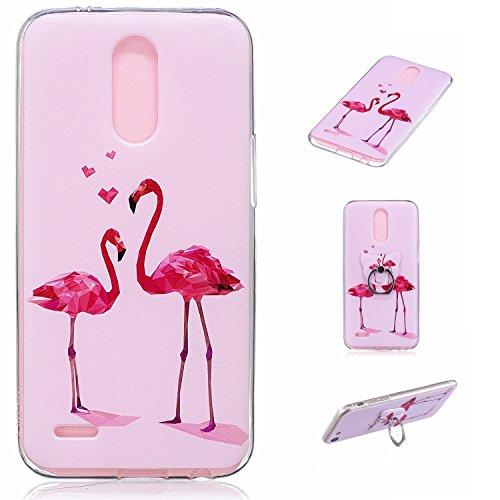 Meet de iphone 8 Coque Antidérapant Transparent TPU Silicone Gel Housse Étui Protecteur Cover Case avec fonction de support Souple Ultra Mince pour iphone 8 - Mouton empilé Flamingo