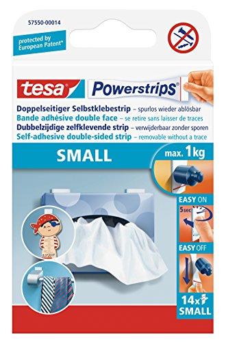 tesa Powerstrips® Spar-Set: 2x 57550-14-00 Small