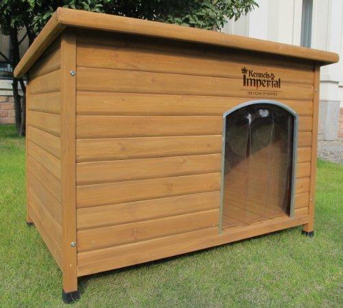 hundeinfo24.de XL Isolierte Norfolk Hundehütte Aus Holz Mit Entfernbarem Boden Zur Einfachen Reinigung B