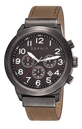 Esprit Herren-Armband Baxter Men'Chronograph Quarz Leder braun KL101 ES108041002