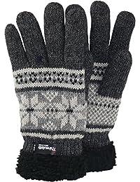 6863d4ec62a9f9 Claus Modes Herren Finger Handschuh mit Norweger Muster Thinsulate