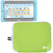 DURAGADGET Funda Verde Lima De Neopreno Para Cefatronic Tablet Clan Pro / Kurio Tab 2   Resistente Al Agua - Duradera