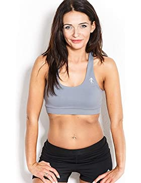 Kevin levrone Bra Woman Lady Grey–Sport BH–Entrenamiento Top–Fitness, gris, large