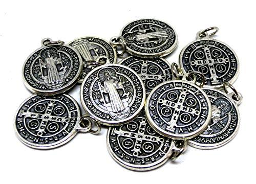 GTB Italy - Heiliger St. Benedikt mit Ring aus Silber, 10 Medaillen
