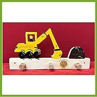 Bagger Sandhaufen Garderobe für Namens Gravur - Geburtsgeschenk, Geburtstagsgeschenk, Weihnachtsgeschenk