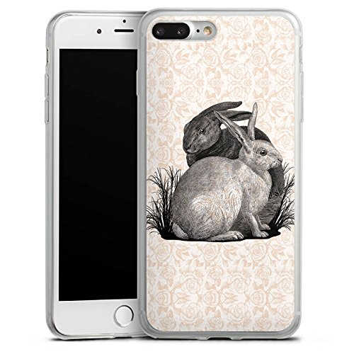 Apple iPhone 8 Slim Case Silikon Hülle Schutzhülle Hase Häschen Hasen Silikon Slim Case transparent
