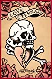 Poster: Ed Hardy Poster–Love Eternal (91,4x 61cm), Kunststoffrahmen, Rot, 24-Inches x 35.8-Inches