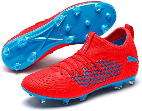 PUMA Herren Future 19.3 Netfit FG/AG Fußballschuhe, Rot (Red Blast-Bleu Azur), 44.5 EU