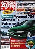 ACTION AUTO MOTO [No 14] du 01/06/1995 - PEUGEOT 706 CITROEN X SAFRANE II LE MEILLEUR...