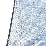 GUOOK Protezione Solare da Giardino 75-80% Isolante Riflettente in Foglio di Alluminio Protezione Solare UV Copertura di Fiori in Serra (Dimensioni: 4mx7m (13ftx23ft))